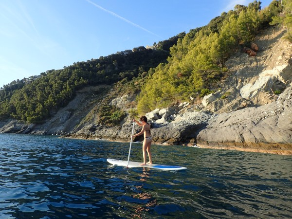 Stand-up-paddle from Chiavari to Zoagli