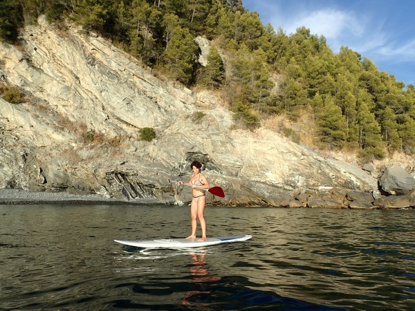 On SUP at Chiavari